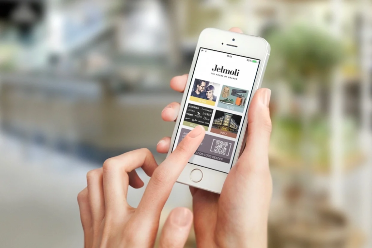 jelmoli app auf dem mobiltelefon